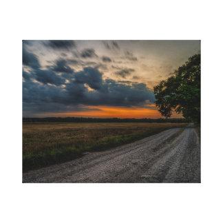 Storm field canvas print