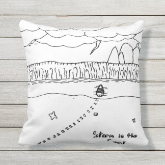 Storm in sea cushion