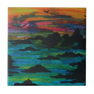 Storm in the distance tile