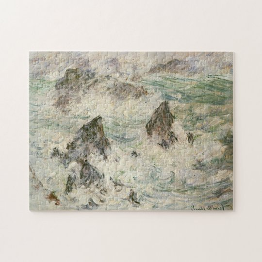 Storm on Belle-Ile Monet Fine Art Jigsaw Puzzle