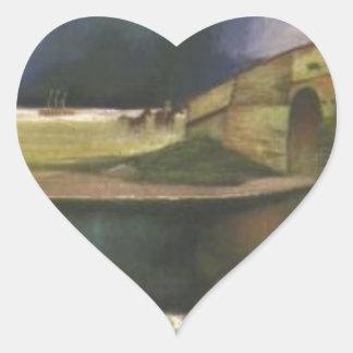 Storm on the Hortobágy Tivadar Kosztka Csontvary Heart Sticker