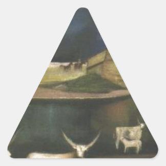Storm on the Hortobágy Tivadar Kosztka Csontvary Triangle Sticker