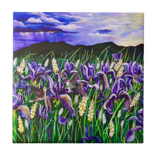 Storm over Iris FieldsTile Ceramic Tile