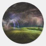 Storm Round Sticker