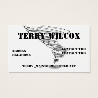 Storm Spotter Hazard Yellow With Swirling Tornado Business Card