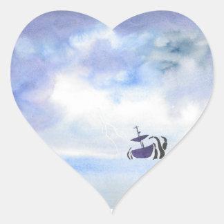 Storm-Tossed Heart Sticker