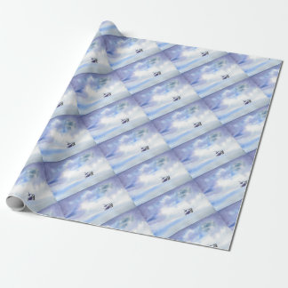 Storm-Tossed Ship Wrapping Paper