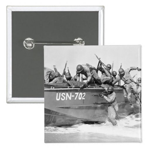Storming the Beach, 1940s Pin
