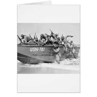 Storming the Beach, 1940s Card