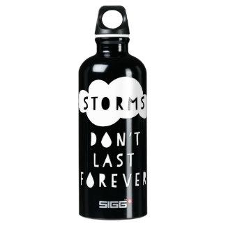 Storms Don't Last Forever Water Bottle Dark