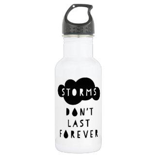 Storms Don't Last Forever Water Bottle Light