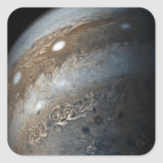 Storms on Jupiter from Juno Cam (2017) Square Sticker
