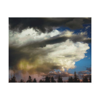 Stormy Afternoon In The Foothills Canvas Print