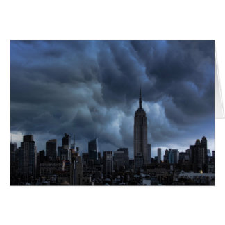 Stormy afternoon skies: Empire State Building Card