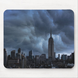 Stormy afternoon skies: Empire State Building Mousepads