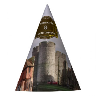 Stormy Castle And River Personalized Wedding Party Hat