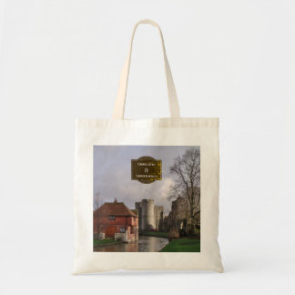 Stormy Castle And River Tote Bag for Wedding