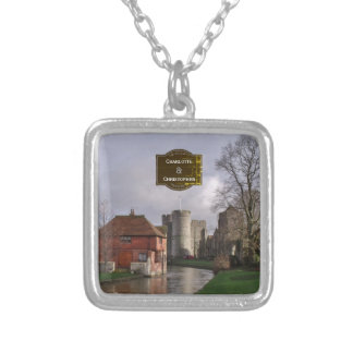 Stormy Castle Personalized Wedding Silver Plated Necklace