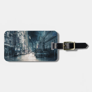Stormy Cityscape Luggage Tag