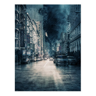 Stormy Cityscape Postcard