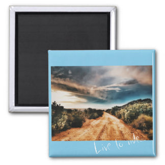 Stormy Clouds Road Landscape South Africa Magnet