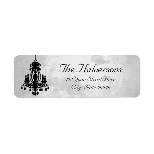 Stormy Day Chandelier Address Labels