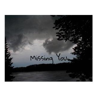 Stormy Lake Postcard