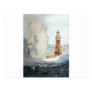 Stormy Lighthouse Postcard