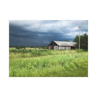 Stormy Michigan Countryside Farm Landscape Canvas