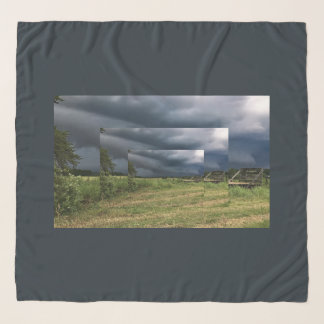 Stormy Michigan Countryside Farm Landscape Scarf