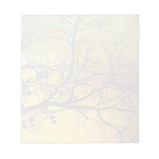 Stormy morning with tree muted notepad