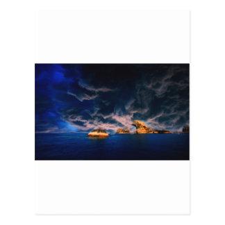 stormy oasis pastel postcard