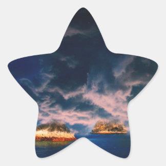 stormy oasis pastel star sticker