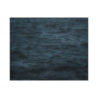 Stormy Ocean Water Out at Sea Canvas Art Print
