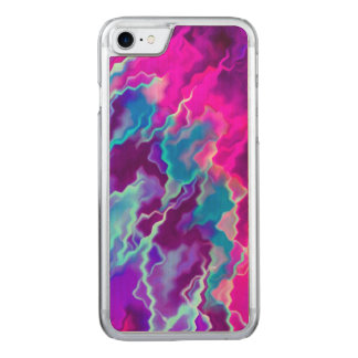 Stormy Pink Purple Teal Carved iPhone 7 Case
