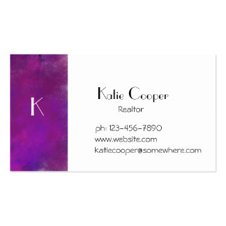 Stormy Purple Texture Business Cards