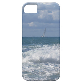 Stormy sea and sailboat along Tuscany coastline iPhone 5 Covers