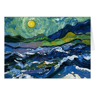 Stormy Sea Card