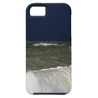 Stormy sea with waves und a dark blue sky. iPhone 5 cases