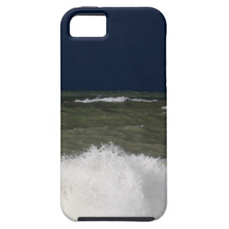 Stormy sea with waves und a dark blue sky. iPhone 5 covers