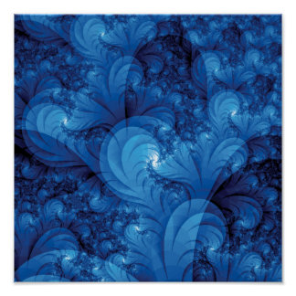 Stormy Seas Fractal Poster