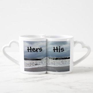 Stormy Seas of the Atlantic Ocean Lovers Mug Sets