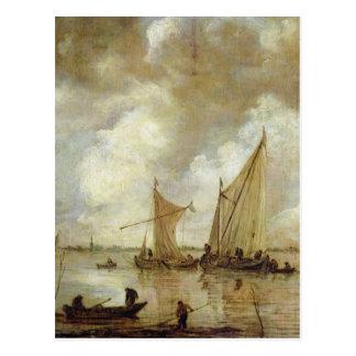 Stormy Seascape, 1655 Postcard