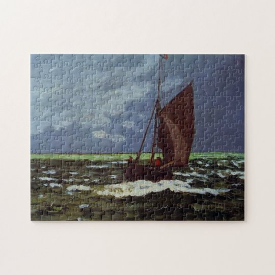 Stormy Seascape Monet Fine Art Jigsaw Puzzle