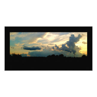 Stormy Skies Sunset Customized Photo Card