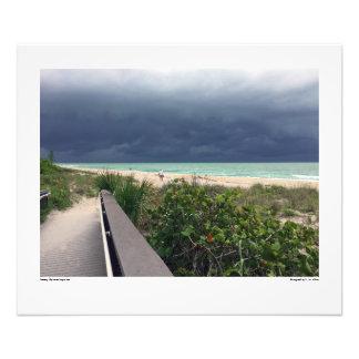 Stormy Sky over Aqua Sea Photo Print