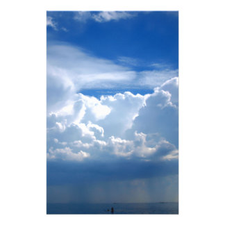 Stormy sky with clouds stationery