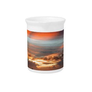 Stormy Sunset Drink Pitchers