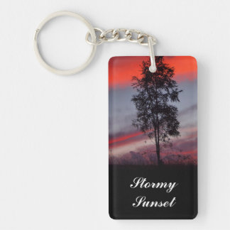 Stormy sunset keychain