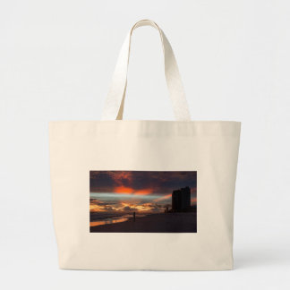 Stormy Sunset Large Tote Bag